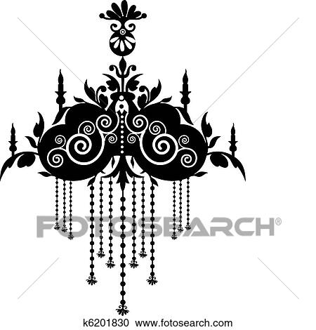 Clipart of chandelier k6201830 search clip art illustration clipart chandelier fotosearch search clip art illustration murals drawings and vector aloadofball Images