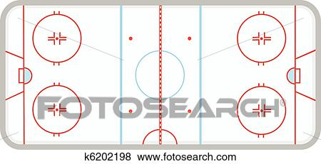 Clipart patinoire hockey glace k6202198 recherchez des cliparts des illustrations des - Dessin patinoire ...