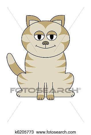手绘图 - 大, 眼睛, 猫图片