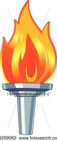 Clipart Of Vector Torch K6209063