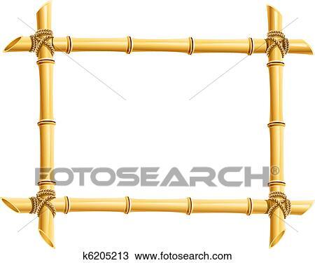 Clipart Of Wooden Frame Bamboo Sticks K6205213