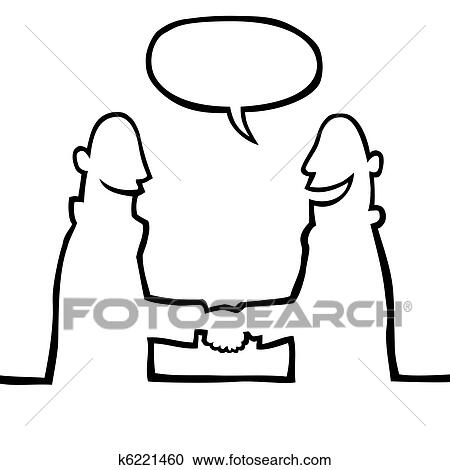 Clipart of Two people shaking hands k6221460 - Search Clip Art ...