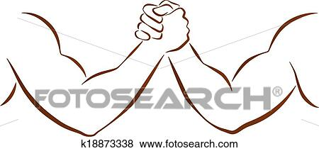 clip art of arm wrestling k18873338 search clipart
