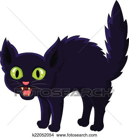Clipart spaventato cartone animato gatto nero for Gatto clipart