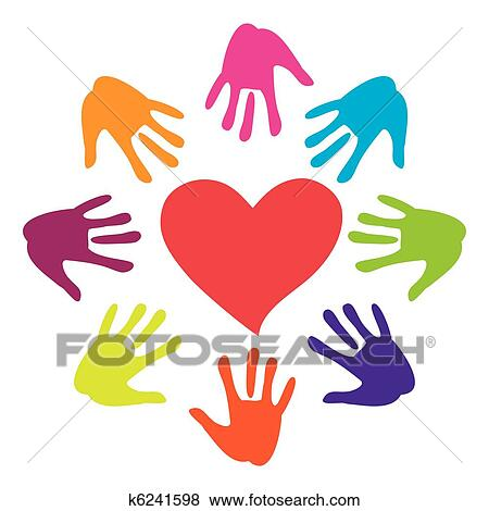 Clip Art Helping Hands Clipart clipart of person hold red heart in hand vector k10800535 search heart