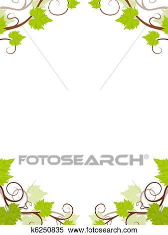 clipart raisin vignes frame k6250835 recherchez des clip arts des illustrations des. Black Bedroom Furniture Sets. Home Design Ideas