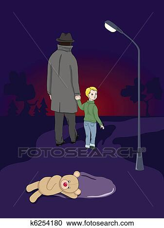 Clipart of Missing Child k6254180 - Search Clip Art ...
