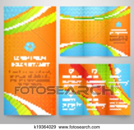 Clip Art Of Professional Three Fold Business Flyer Template - Tri fold business brochure template