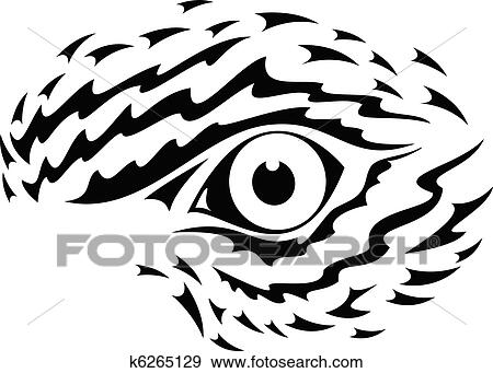 Line Drawing Vector Graphics : Clip art of eagle eye graphic k6265129 search clipart