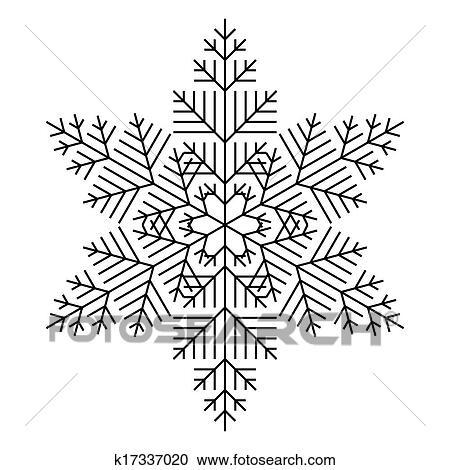Clipart simple flocon de neige k17337020 recherchez - Dessins flocons de neige ...