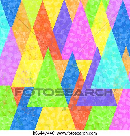 Stock Illustration - Colorful painted triangles superimp. Fotosearch - Search Clip Art, Drawings,