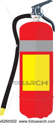 Clipart of Fire extinguisher k6265502 - Search Clip Art ...
