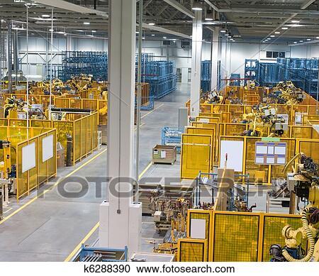 Banques de photographies usine int rieur k6288390 for Interieur usine