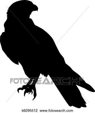 clipart of falcon k6295512 search clip art illustration