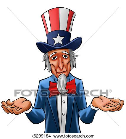 drawings of sad uncle sam k6299184 search clip art illustrations rh fotosearch com uncle sam clipart we need you uncle sam clip art free