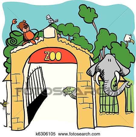 clipart of zoo vector cartoon illustration k6306105 search clip rh fotosearch com clip art zoo clipart zumba