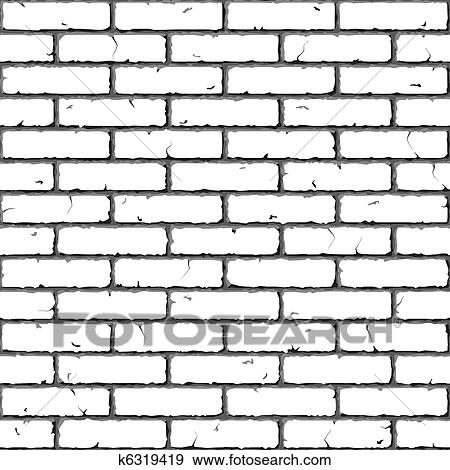 Clip Art Of Brick Wall Seamless Texture K6319419