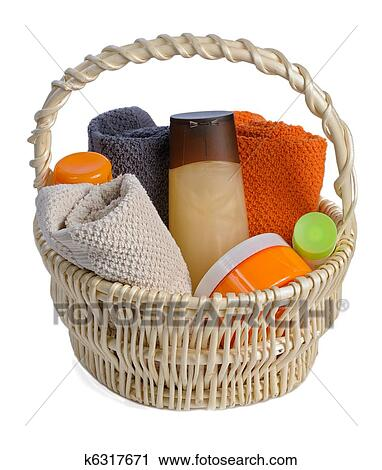 Stock Photography of toiletries in backet k6317671 - Search Stock Photos, Pictures ...