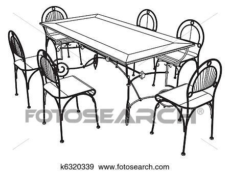 Stühle clipart  Clip Art - satz, tisch, und, stühle k6320339 - Suche Clipart ...
