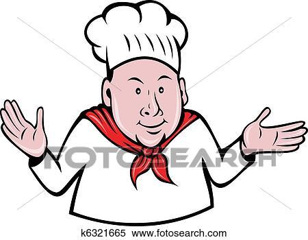 Banque d 39 illustrations chef cuistot cuisinier ou for Cuisinier bras