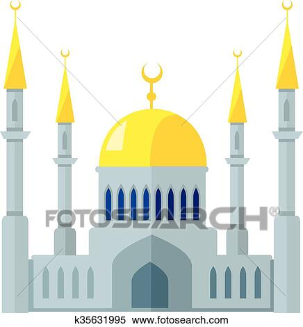 clipart of mosque k35631995 search clip art illustration murals rh fotosearch com mosque clipart easy mosque clipart outline