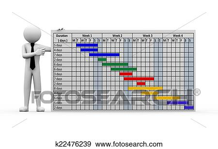 3d businessman project gantt chart presentation stock illustration stock illustration 3d businessman project gantt chart presentation fotosearch search vector clipart ccuart Images