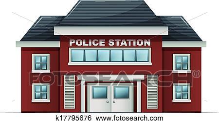 Polizeiwache clipart  Clip Art - a, polizeiwache, gebäude k17795676 - Suche Clipart ...