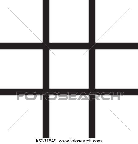 Fenster clipart schwarz weiß  Clip Art - gitter, fenster k6331849 - Suche Clipart, Poster ...