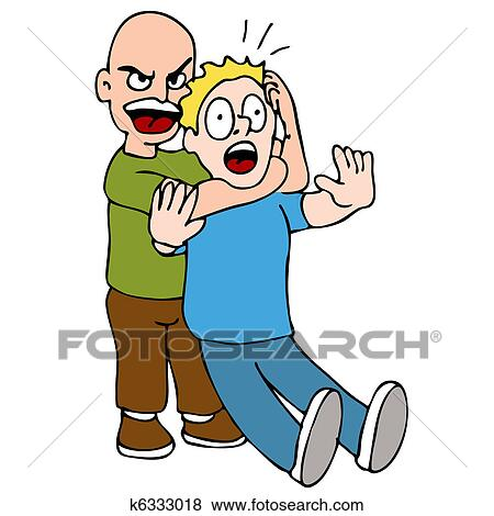 Clip Art of Choke Hold k6333018 - Search Clipart, Illustration ...