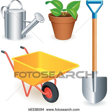 Clipart of garden tools k6338594 search clip art for Gardening tools clipart