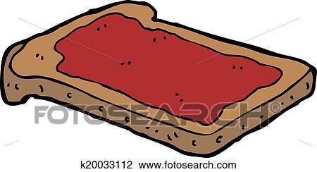 clipart of cartoon jam on toast k20033112 search clip art rh fotosearch com toast clipart free jam toast clipart