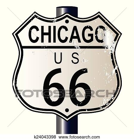 clip art of chicago route 66 highway sign k24043398 search rh fotosearch com route 66 clipart free route 66 clip art free