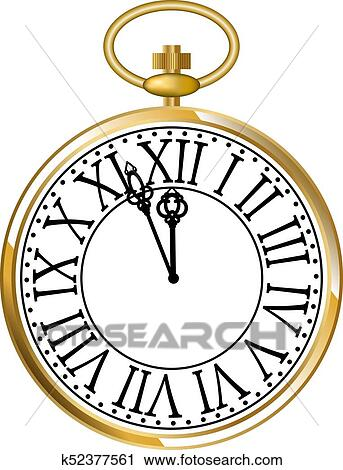 clipart of golden pocket watch k52377561 search clip art rh fotosearch com gold pocket watch clipart free pocket watch clip art
