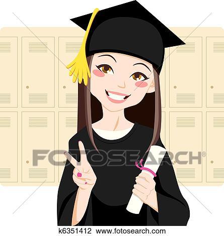 clipart asiatische absolvent k6351412 suche clip art. Black Bedroom Furniture Sets. Home Design Ideas
