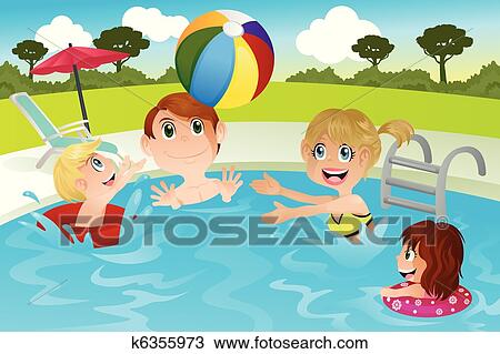 Clipart - familie, in, schwimmbad k6355973 - Suche Clip ...