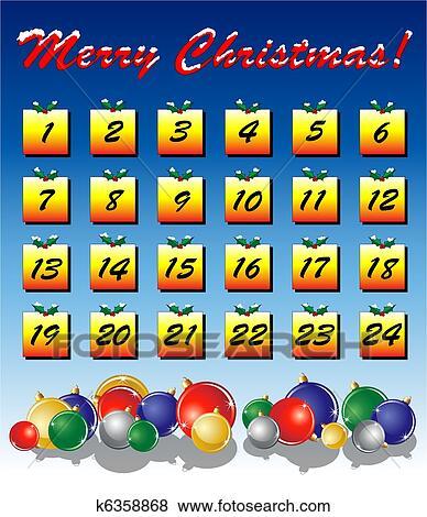 Clip art calendario avvento k6358868 cerca clipart for Clipart calendario