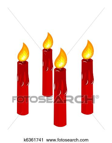 clipart of advent red burning candles k6361741 search clip art rh fotosearch com candle clip art free images candle clipart black and white