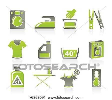 clipart waschmaschine und w sche heiligenbilder k6368091 suche clip art illustration. Black Bedroom Furniture Sets. Home Design Ideas