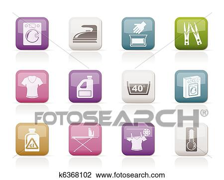 clipart waschmaschine und w sche heiligenbilder k6368102 suche clip art illustration. Black Bedroom Furniture Sets. Home Design Ideas