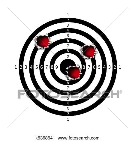 Clip Art of The target for shooting practice k6276196 - Search ...