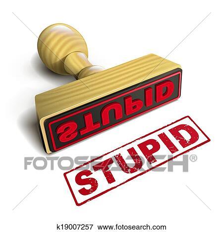 Clipart - timbre, stupide, à, rouges, texte, blanc. Fotosearch - Recherchez des Cliparts, des Illustrations, des Dessins et des Images Vectorisées au Format EPS