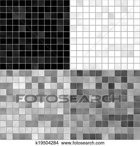 Dibujos conjunto textura piso de azulejo blanco gris for Azulejo de piso de bano blanco y negro