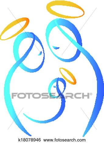 clip art of holy family k18078946 search clipart illustration rh fotosearch com holy family clipart