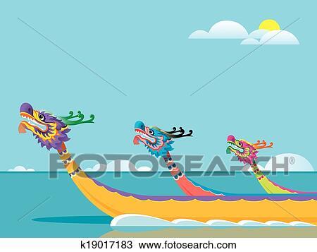 Dragon boat Clip Art EPS Images. 161 dragon boat clipart vector ...