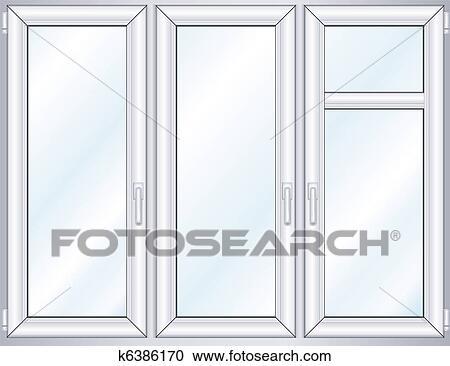 Fenster clipart schwarz weiß  Clipart - fenster k6386170 - Suche Clip Art, Illustration ...