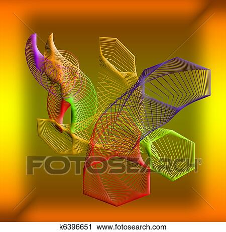 Clipart of Abstrakt composition.Different colored geometric shapes ...