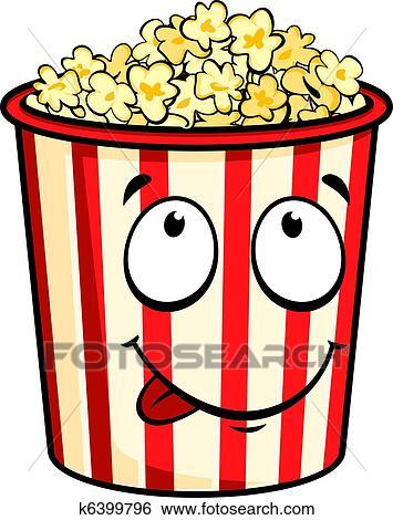 clip art of cartoon popcorn k6399796 search clipart