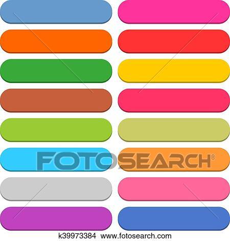 剪贴画 - 套间, 空白, 网, 图标, 颜色, 圆形, 长方形, 按钮.图片