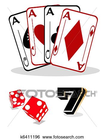 clip art of gambling elements for casinos k6411196 search clipart rh fotosearch com free gambling clipart images gambling clip art free images