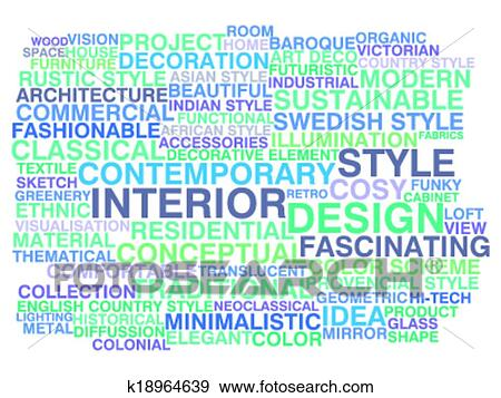 clip art interior design word cloud concept fotosearch search clipart illustration